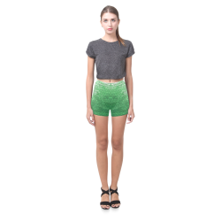 Snakeskin Lake Green Briseis Skinny Shorts (Model L04)
