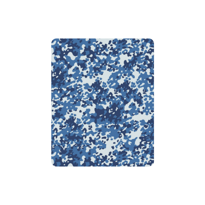 Digital Blue Camouflage Rectangle Mousepad