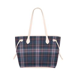 stripe blue pink Clover Canvas Tote Bag (Model 1661)