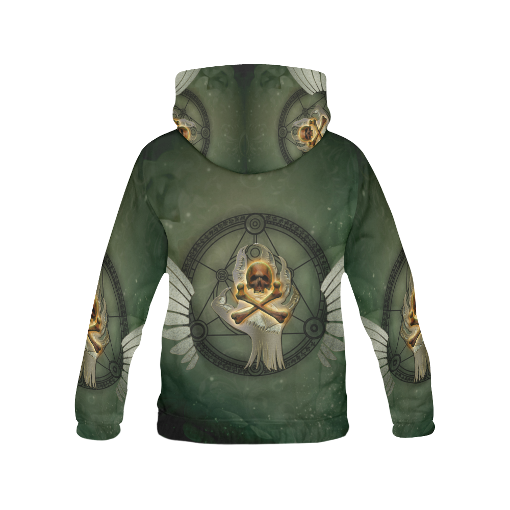 Skull in a hand All Over Print Hoodie for Men (USA Size) (Model H13)