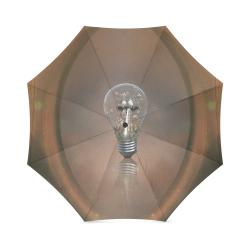 Light bulb with birds Foldable Umbrella (Model U01)