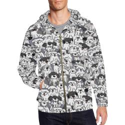 Sheepdogs On Watch ~ Original All Over Print Full Zip Hoodie for Men (Model H14)