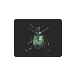 Low poly geometric green bug Rectangle Mousepad