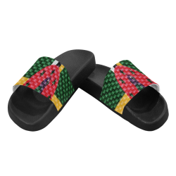 DOMINICA FLAG Women's Slide Sandals (Model 057)