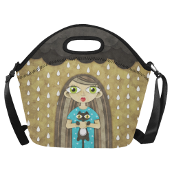 We Love Rain Neoprene Lunch Bag/Large (Model 1669)