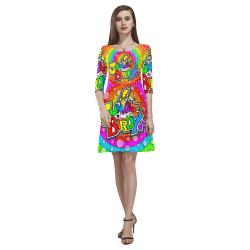 JUNGLEBIRDY _ DRESS - LOGO-RINGS Tethys Half-Sleeve Skater Dress(Model D20)