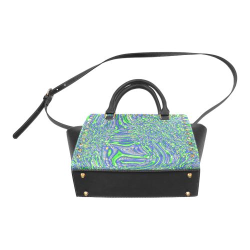 70s chic 2 Rivet Shoulder Handbag (Model 1645)