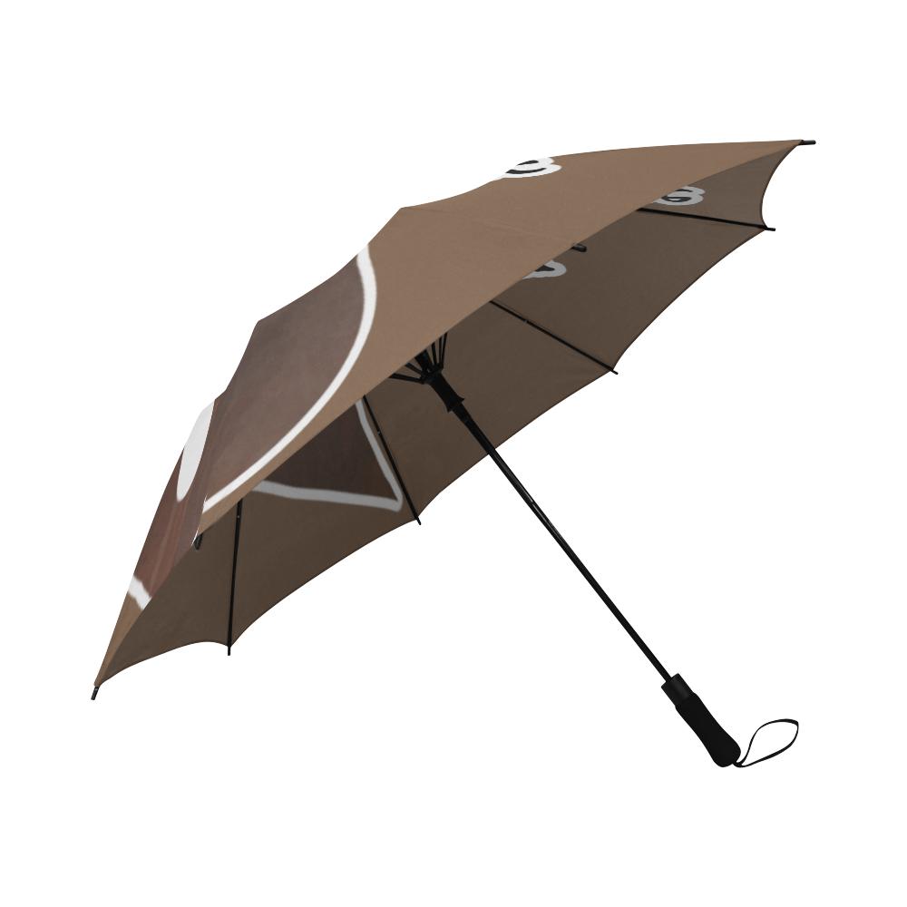 My blood type is coffee! Semi-Automatic Foldable Umbrella (Model U05)