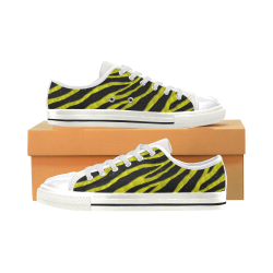 Ripped SpaceTime Stripes - Yellow Canvas Women's Shoes/Large Size (Model 018)