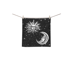 "Mystic  Moon and Sun Square Towel 13""x13"""