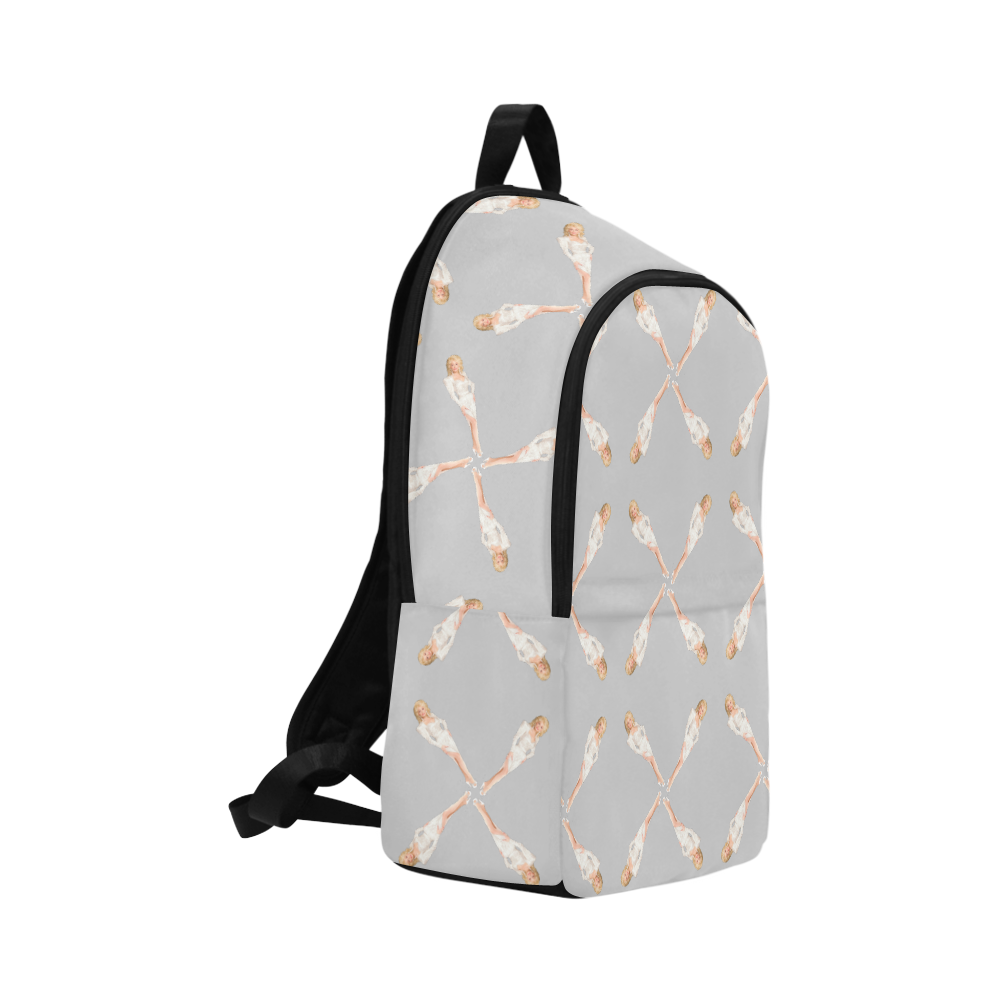 dolly gry Fabric Backpack for Adult (Model 1659)