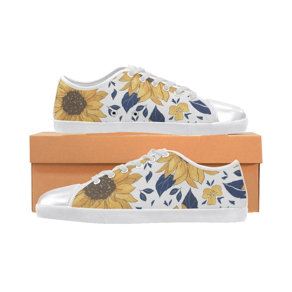 Sunflower LG Women's Canvas Shoes Canvas Shoes for Women/Large Size (Model 016)