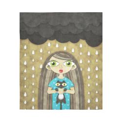 "We Love Rain Cotton Linen Wall Tapestry 51""x 60"""