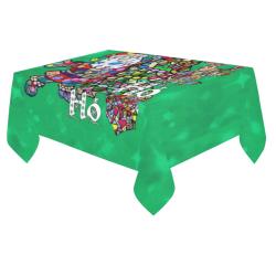 "Ho Ho Ho X Mas by Nico Bielow Cotton Linen Tablecloth 60""x 84"""