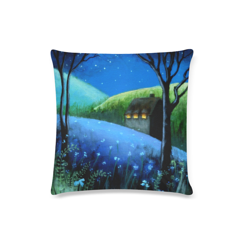 """Under the Stars Custom Zippered Pillow Case 16""""x16""""(Twin Sides)"""