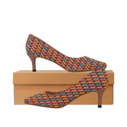 zappwaits w2 Women's Pointed Toe Low Heel Pumps (Model 053)