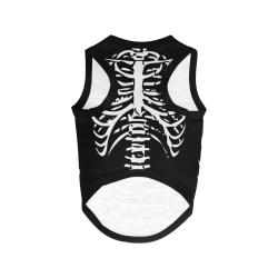 Halloween Costume Skeleton Ribs All Over Print Pet Tank Top