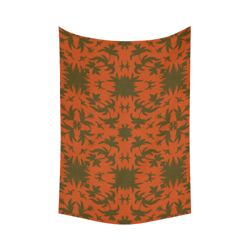 """floral damask Cotton Linen Wall Tapestry 60""""x 90"""""""