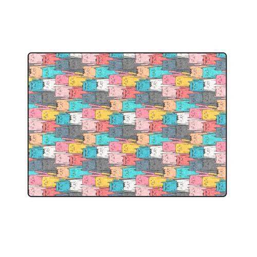 "Cartoon Cat Pattern Blanket 58""x80"""