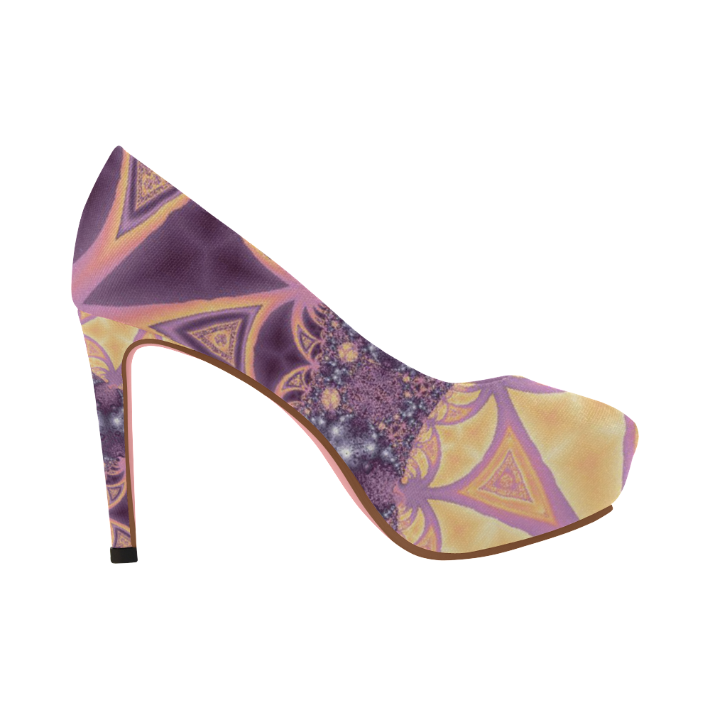 Soft Colourful Tropics Women's High Heels (Model 044)
