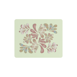 Pastel Floral Dance Pattern Rectangle Mousepad