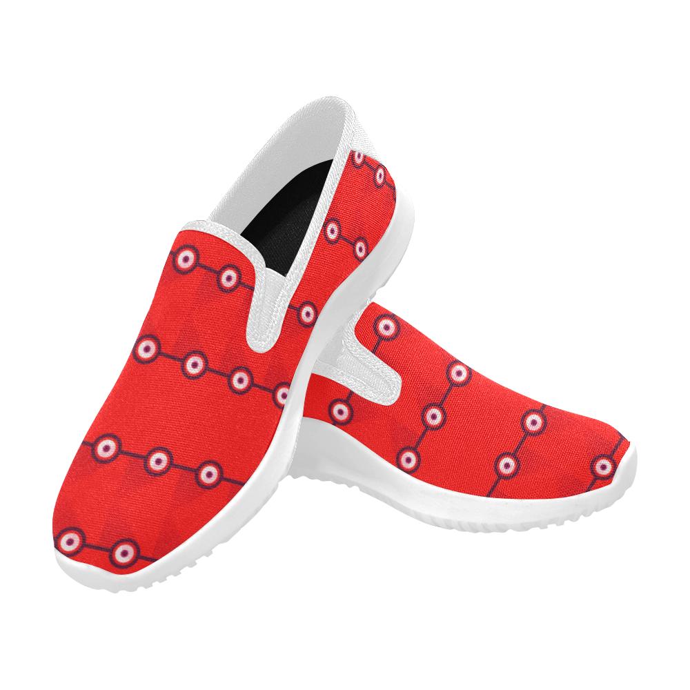 10000 art324 3 Orion Slip-on Women's Canvas Sneakers (Model 042)