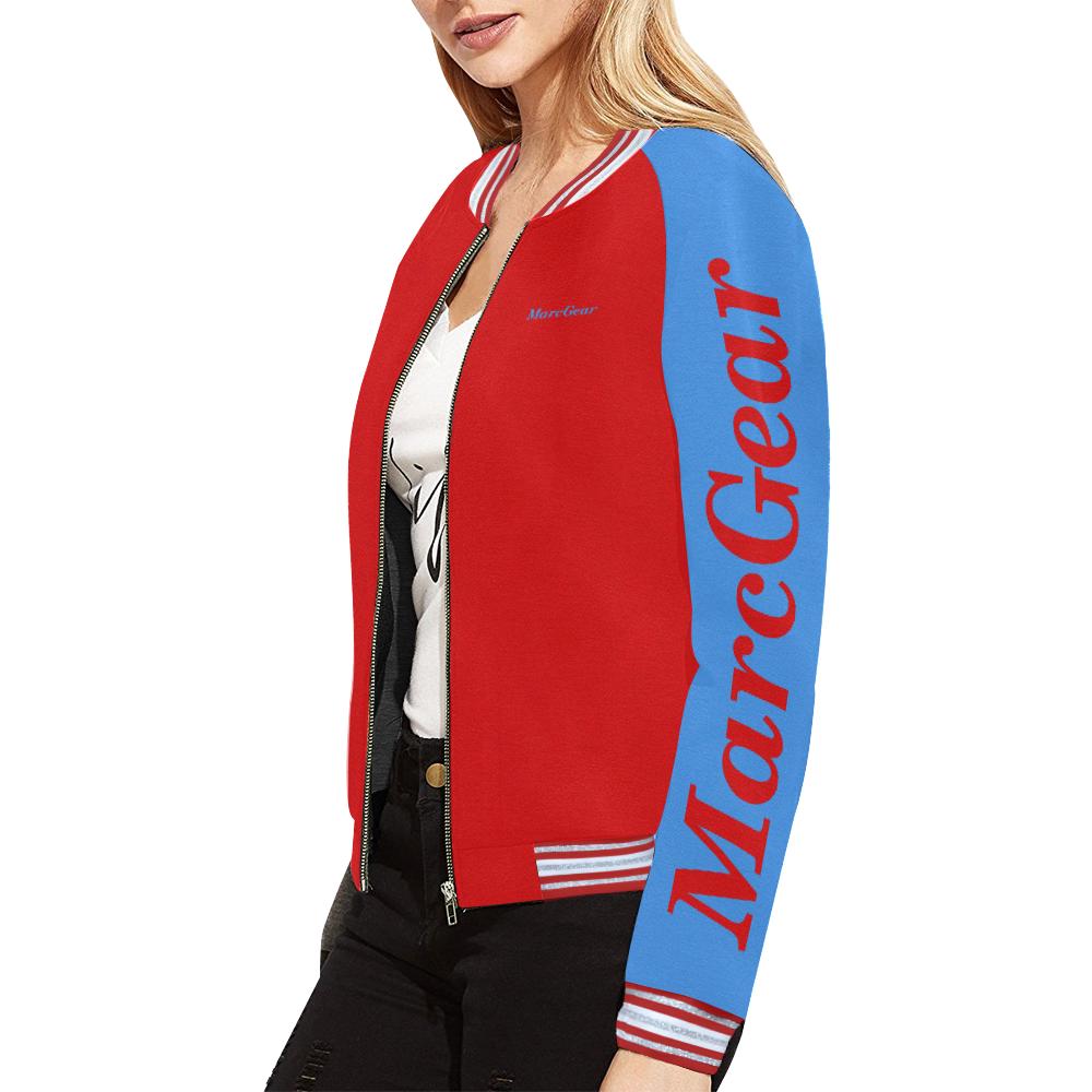 MarcGear Womens RABG All Over Print Bomber Jacket for Women (Model H21)