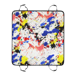 Blue and Red Paint Splatter Pet Car Seat 55''x58''