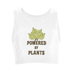 Powered by Plants (vegan) Women's Crop Top (Model T42)