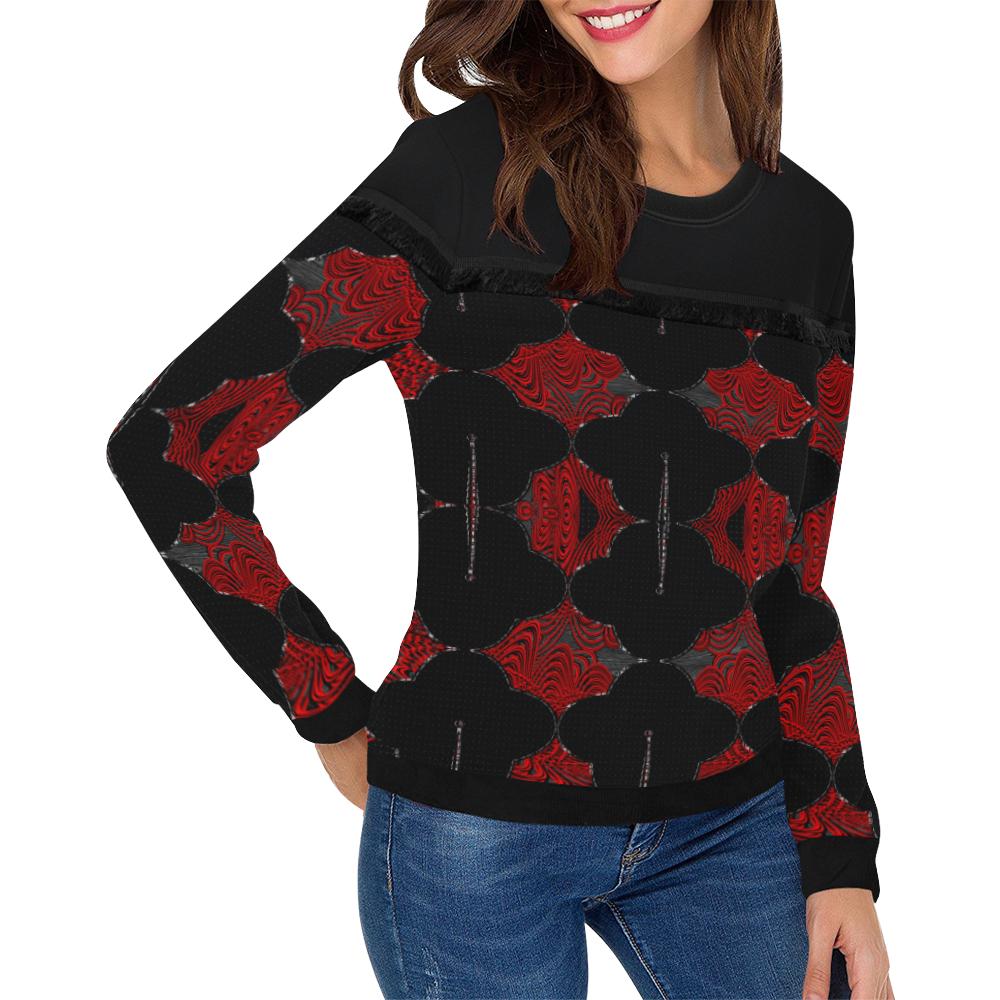 abstract_5500_2019_RBW_50h Women's Fringe Detail Sweatshirt (Model H28)
