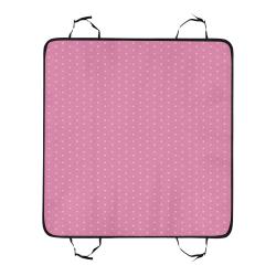 Polka Dotted Pink Pet Car Seat 55''x58''