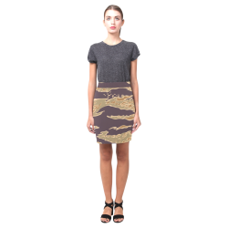 Chic Camo Short Skirt Nemesis Skirt (Model D02)