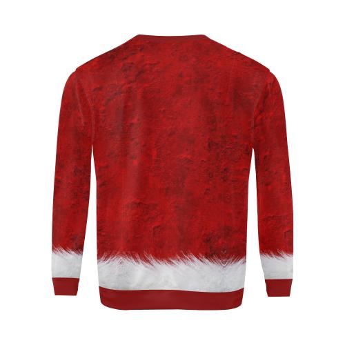 Santa by Nico Bielow All Over Print Crewneck Sweatshirt for Men/Large (Model H18)