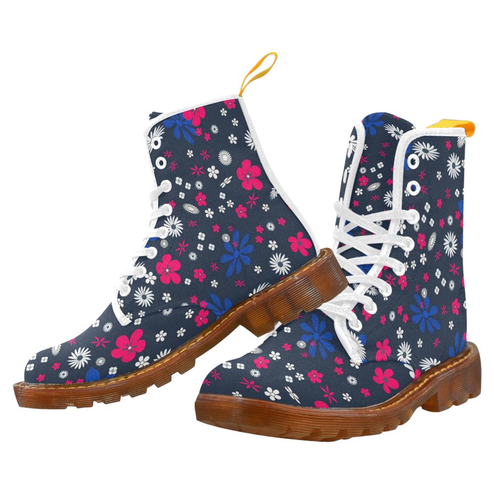 FLORAL DESIGN 11 Martin Boots For Women Model 1203H