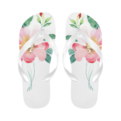 watercolor rose Flip Flops for Men/Women (Model 040)