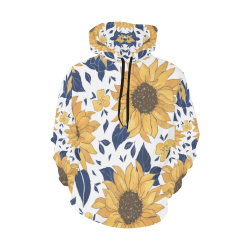 Sunflowers Women's Hoodie All Over Print Hoodie for Women (USA Size) (Model H13)