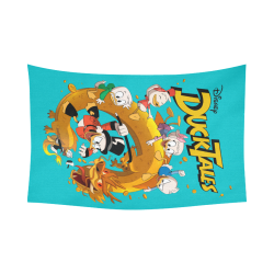 "DuckTales Cotton Linen Wall Tapestry 90""x 60"""