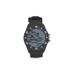 Sport Carp fish Watch Sport Rubber Strap Watch(Model 301)