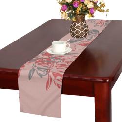 Rose Tan & Pewter Table Runner 16x72 inch