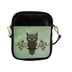 Wonderful owl, diamonds Sling Bag (Model 1627)