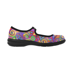 Psychedelic Hippy Doodle by ArtformDesigns Virgo Instep Deep Mouth Shoes