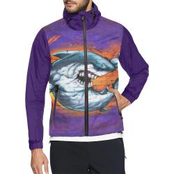 Graffiti Shark (Vest Style) Unisex All Over Print Windbreaker (Model H23)