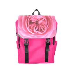 Rose Fleur Macro Casual Shoulders Backpack (Model 1623)