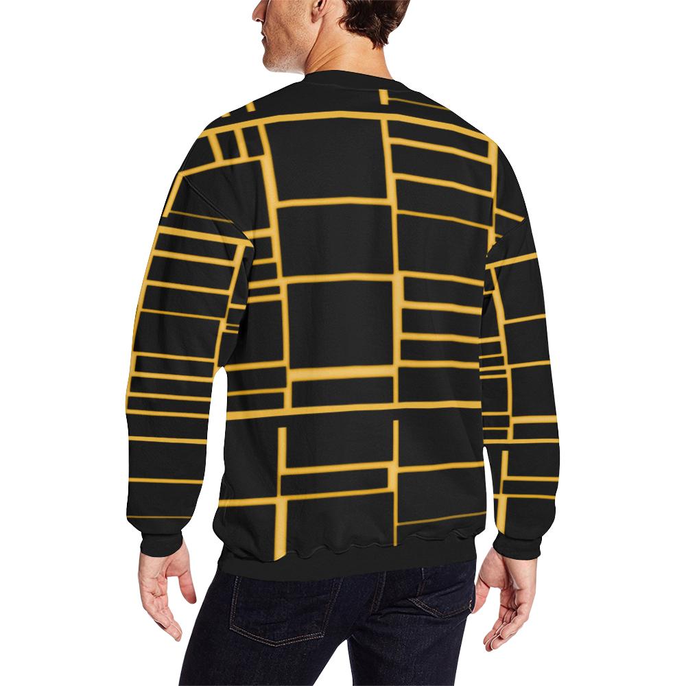 bee Men's Oversized Fleece Crew Sweatshirt (Model H18)