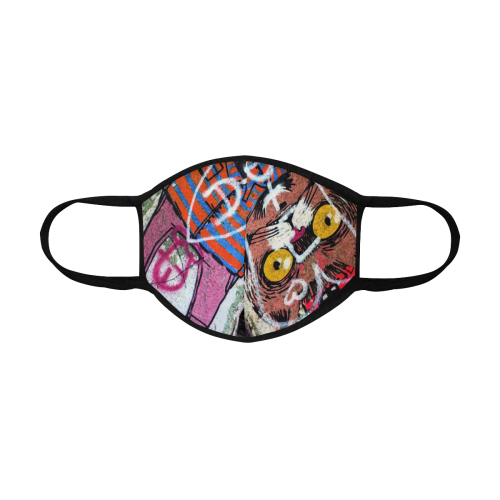 CAT GRAFFITI CRAZY 3D MASK 3D Mouth Mask (Model M03)