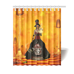 """Fantasy women with carousel Shower Curtain 60""""x72"""""""