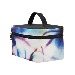 Abstract Photographic Drawing Cosmetic Bag/Large (Model 1658)