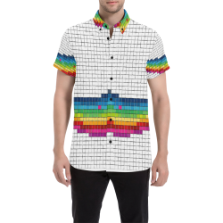 Mosaic Pride by Popartlover Men's All Over Print Short Sleeve Shirt (Model T53)