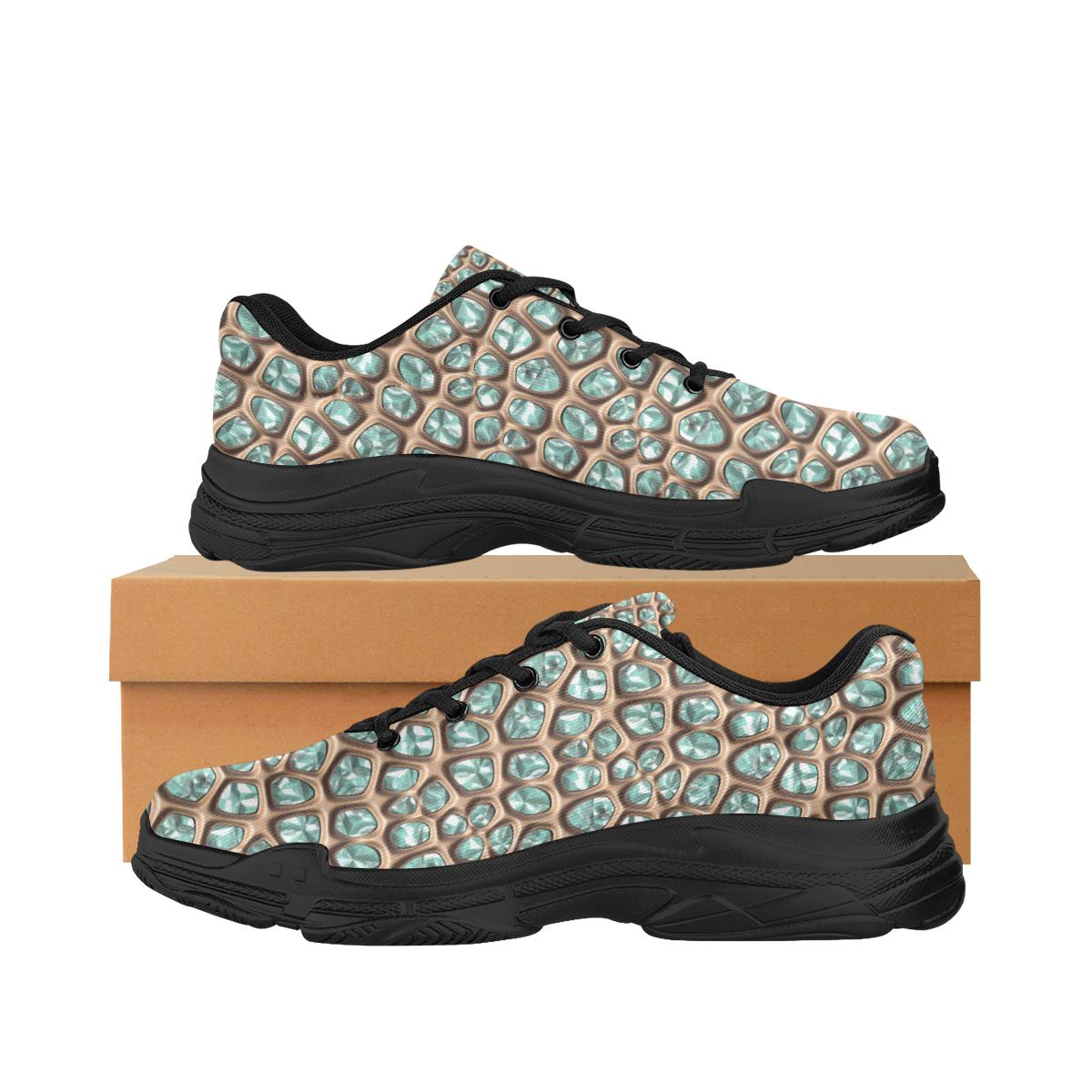 Green crystals Lyra Men's Running Shoes (Model 058)