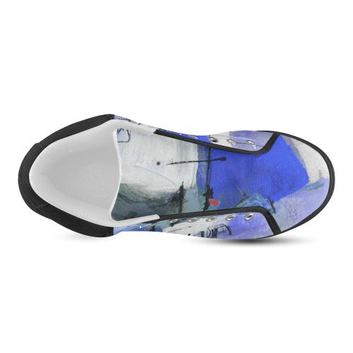 Lua blue Women's Chukka Canvas Shoes (Model 003)